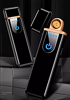 BOX USB зажигалка импульсная ветрозащита БЕЗ ГАЗА запальничка электро