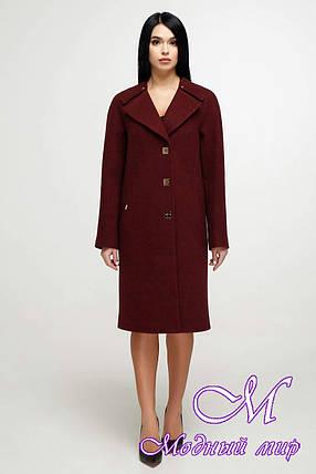 Женское демисезонное пальто до колена (р. 44-54) арт. 1187 Тон 14, фото 2