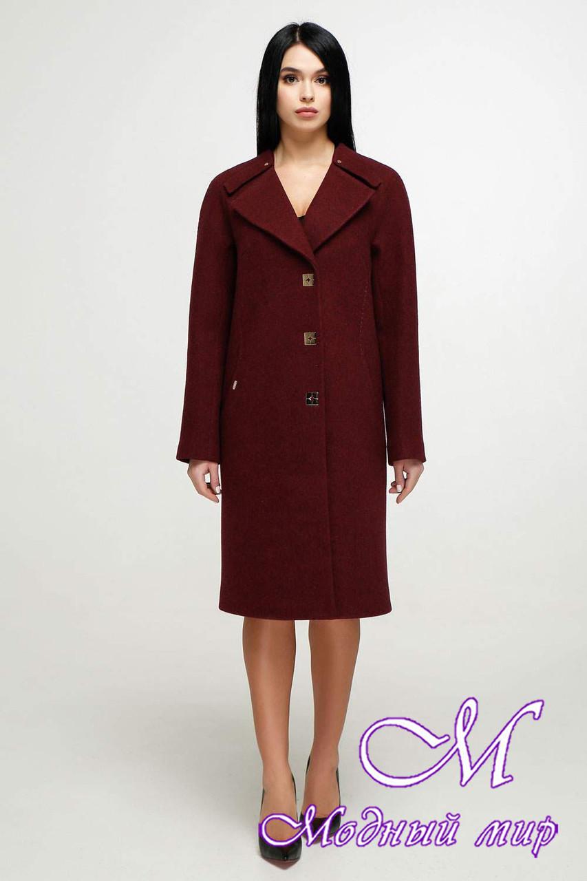 Женское демисезонное пальто до колена (р. 44-54) арт. 1187 Тон 14