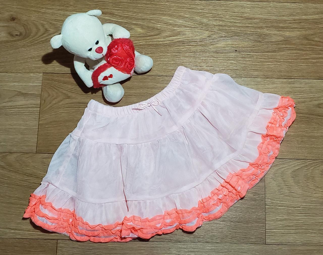 Нарядная пышная фатиновая юбка с рюшами Crazy8 (США) (Размер 5Т)