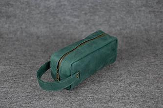 Несессер Классика Винтажная кожа цвет Зеленый
