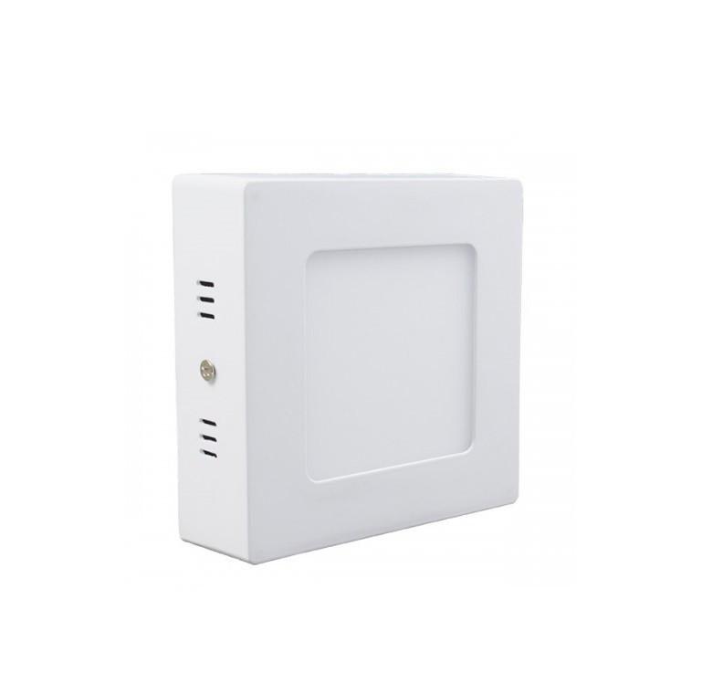 Светодиодный светильник 6w 4100K квадрат накладной