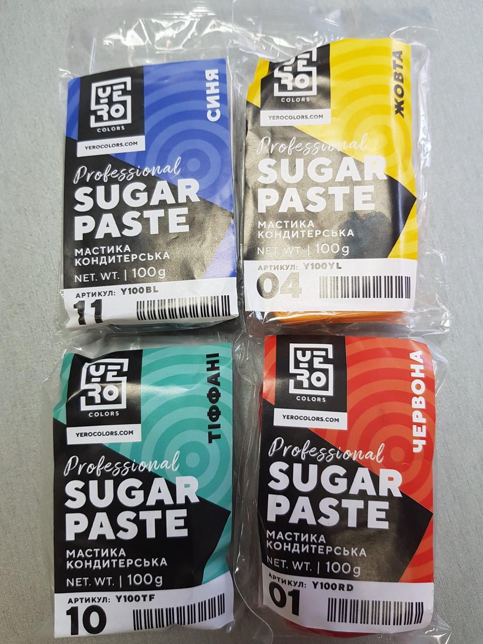 """Сахарная мастика """" YERO COLORS """" В АССОРТ 0,1 кг для лепки цвет в ассортименте 0,1 кг  Украина -06824"""