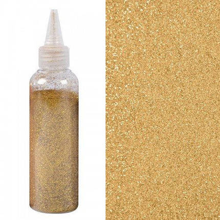 Глиттер золотой (блёстки декоративные) 80 гр, фото 2