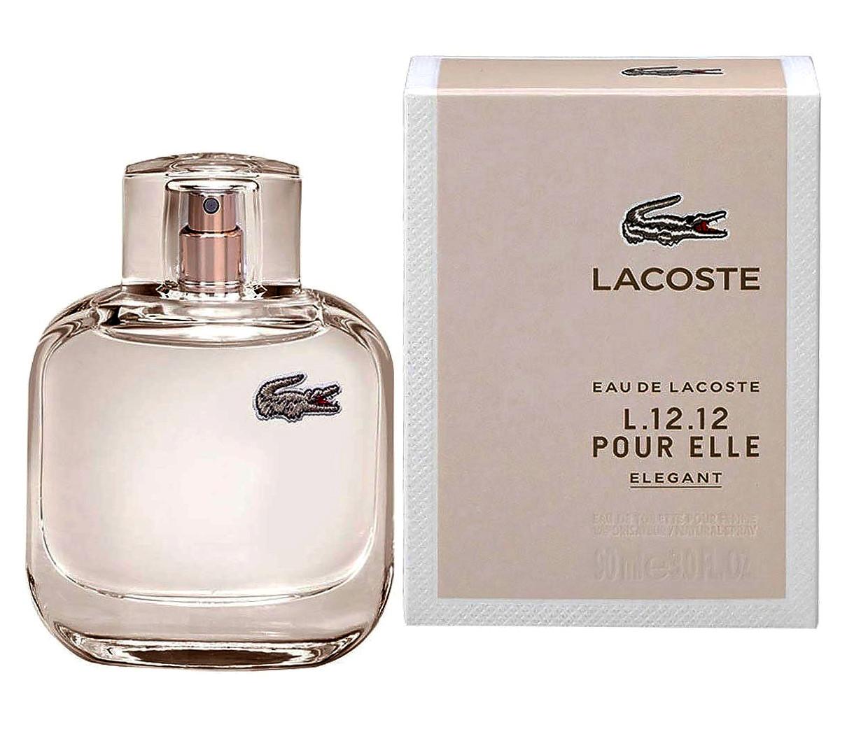 Тестер женский Lacoste Eau De L.12.12 Pour Elle Elegant, 90 мл