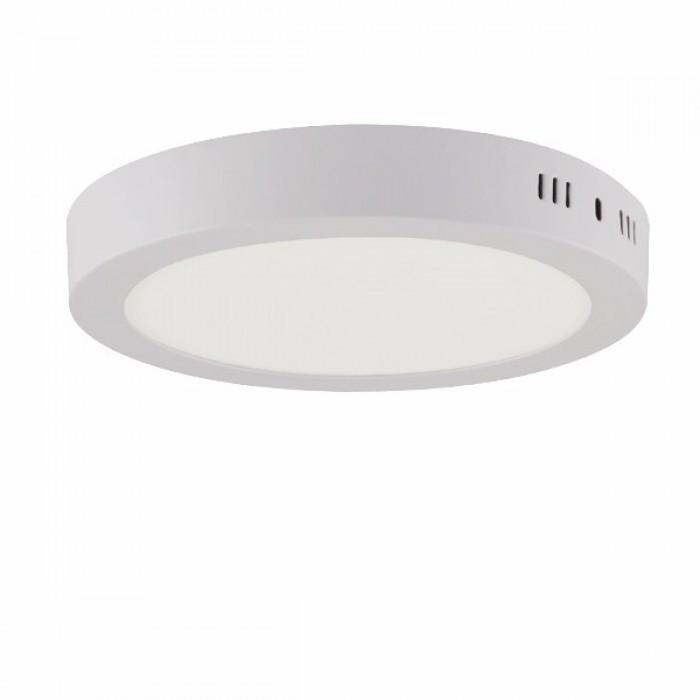 Светодиодный светильник 18w 4100K круг накладной