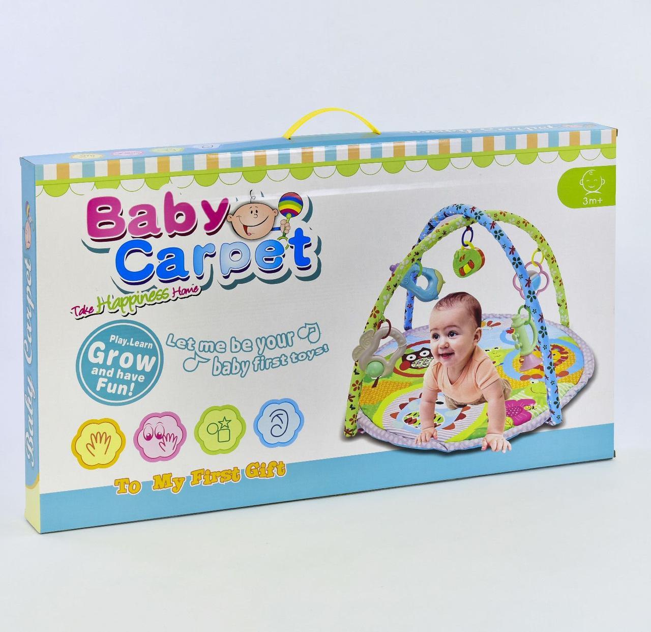 Коврик игровой Музыкальный с подвесными игрушками