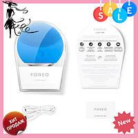 Электрическая щетка   массажер для очистки кожи лица Foreo LUNA Mini 2, Синий, фото 1