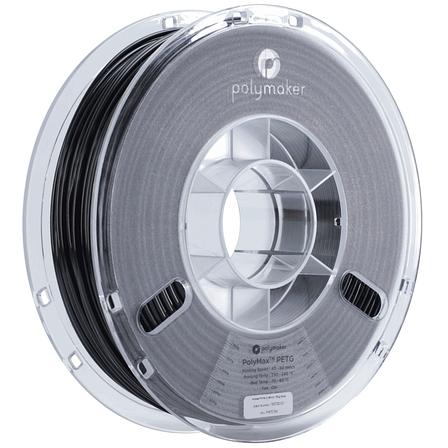 Пластик в котушці PETG PolyMax 1,75 мм, Polymaker, 1кг чорний, фото 2