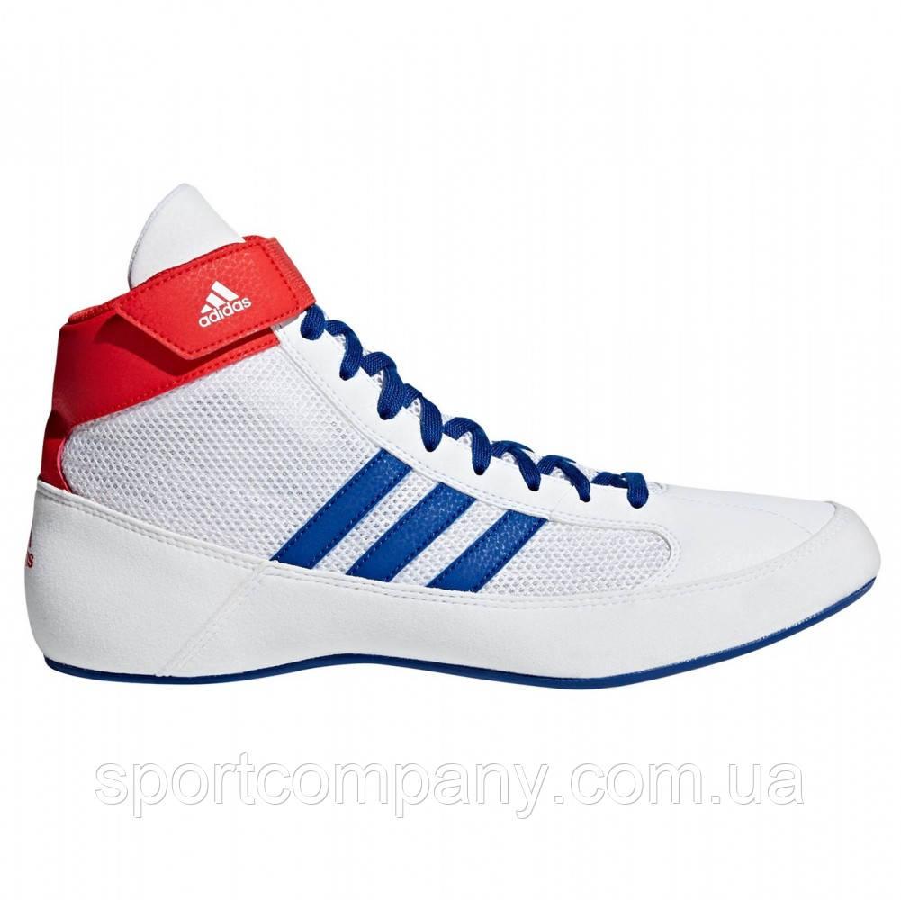 Обувь для борьбы Adidas Борцовки Havoc бело-сине-красные