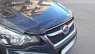 Мухобойка, дефлектор капота  Subaru Impreza 2011-/ XV 2012- (Sim)