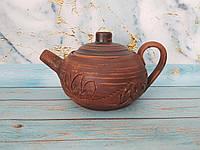 """Глиняный чайник """"КерамКлуб"""" 600 мл, фото 1"""