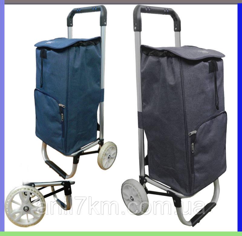 Сумка хозяйственная-тележка на силиконовых колёсах