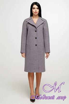 Элегантное женское демисезонное пальто (р. 44-54) арт. 1187 Тон В4, фото 2