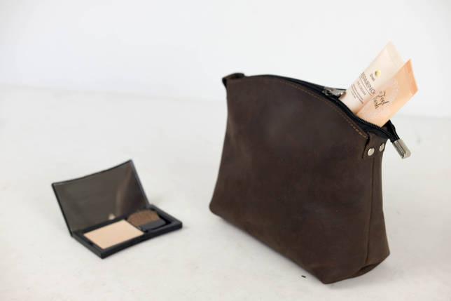 Косметичка  Винтажная кожа цвет Шоколад, фото 2