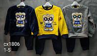 Утепленный костюм 2 в 1 для мальчика оптом, Black Tuna, 1-5 лет,  № CX-1806, фото 1