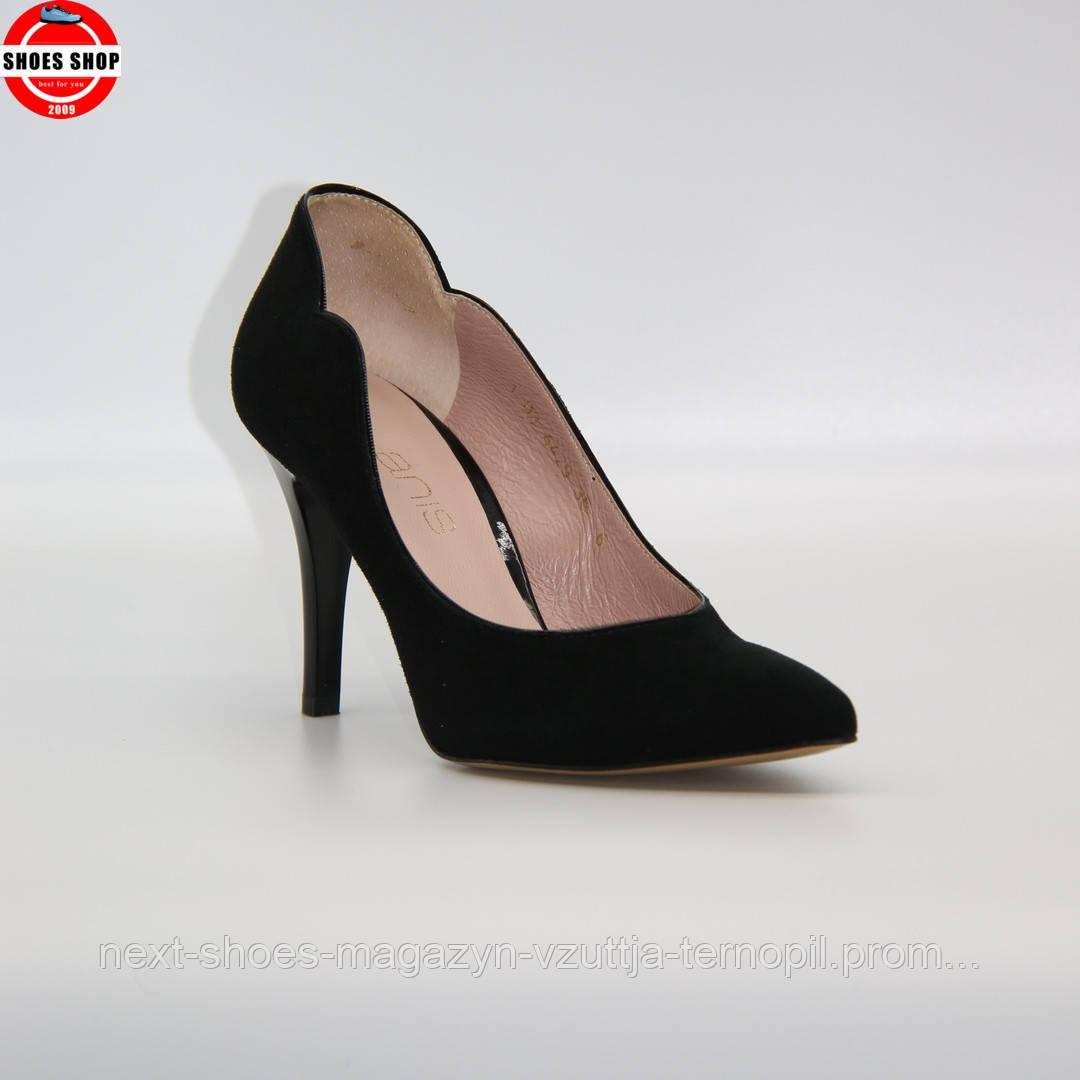 Жіночі туфлі Anis (Польща) чорного кольору. Красиві та комфортні. Стиль: Алісія Вікандер