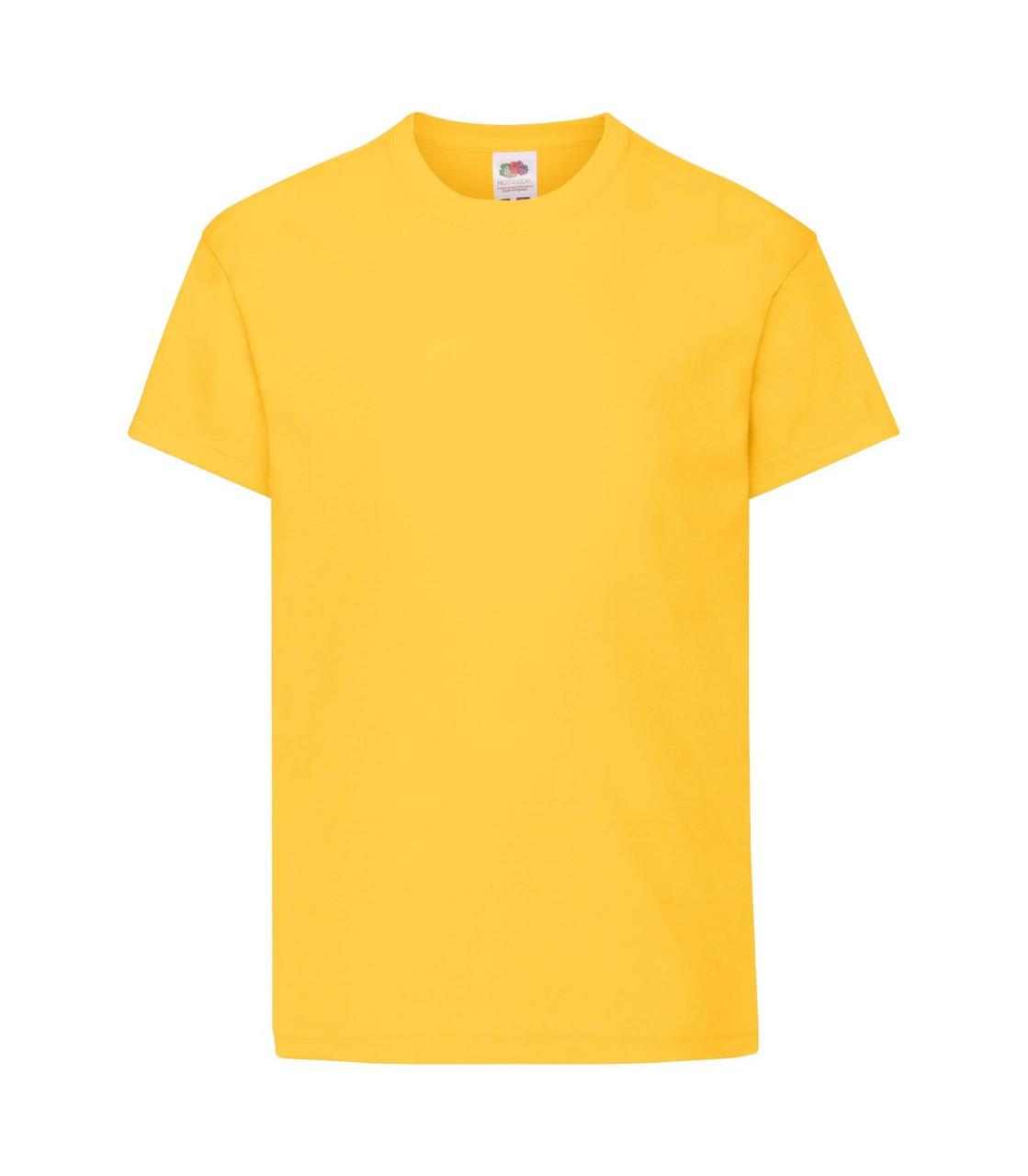 Футболка для мальчиков хлопок желтая 019-34