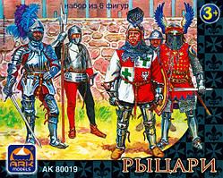 Рыцари, набор из 6 фигур (65 мм).ARK MODELS 80019