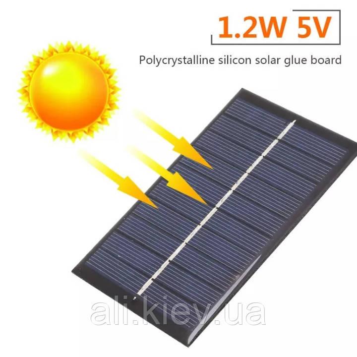 Сонячна Панель 1.2вт 5В USB вихід герметична