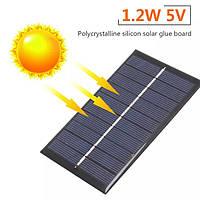 Сонячна Панель 1.2вт 5В USB вихід герметична, фото 1