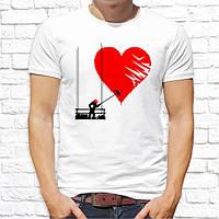 """Чоловіча футболка з принтом """"Серце"""" Push IT"""