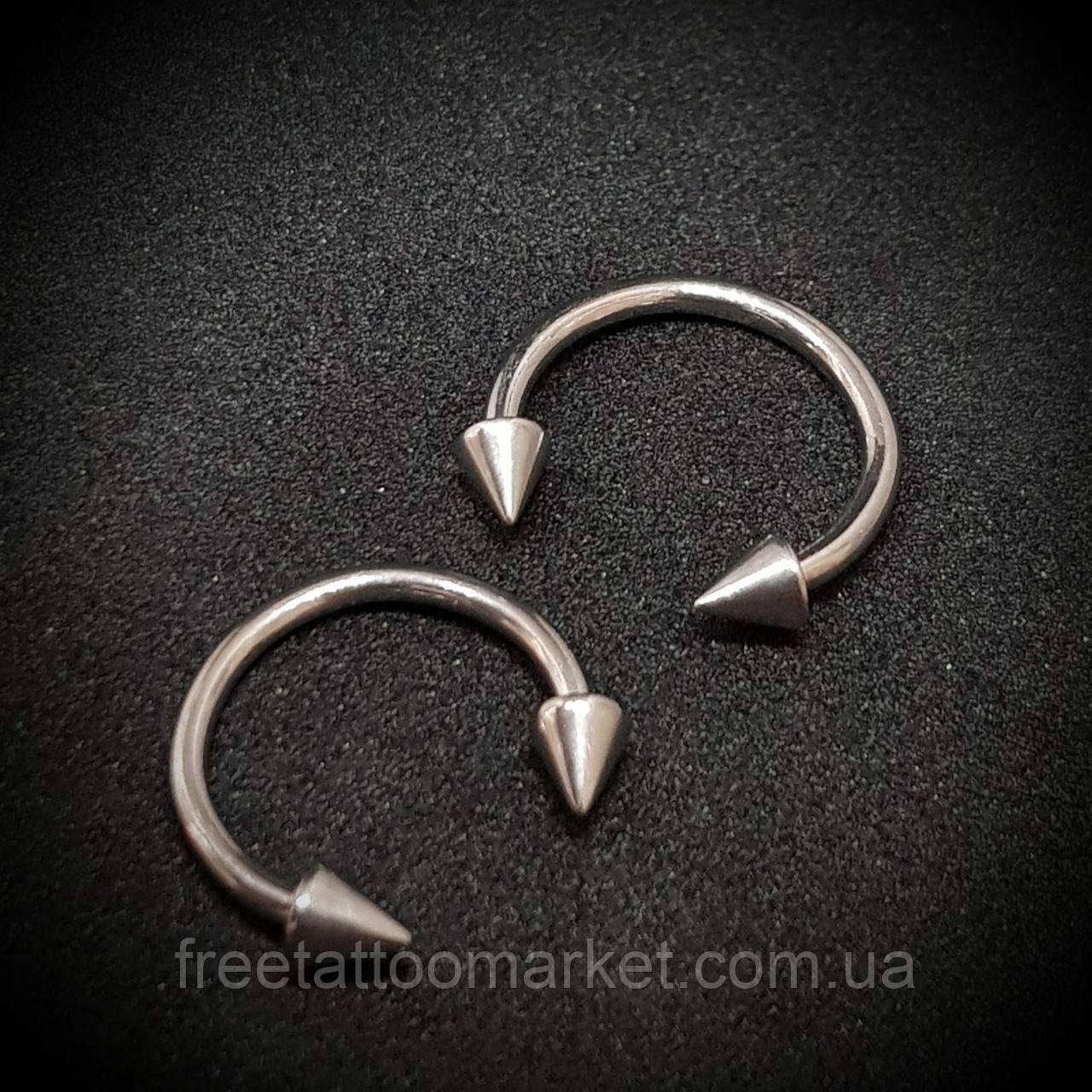 Полукольцо с конусами 1.2 х 10 х 3 мм (титан)