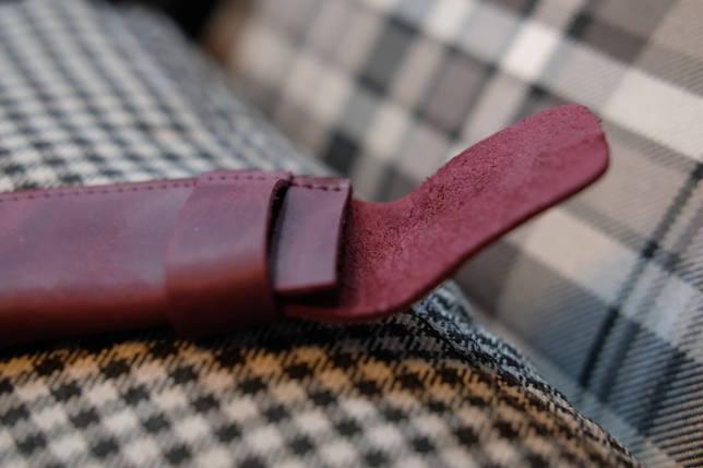"""Кожаный пенал """"Мини"""" Винтажная кожа цвет Бордо, фото 2"""