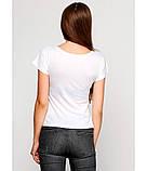 Жіноча вишита футболка. Футболка з вишивкою. Стильна футболка з вишивкою. Интернет магазин вишиванок., фото 3