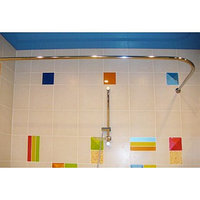 Карниз для ванной Комфорт угловой 110×80