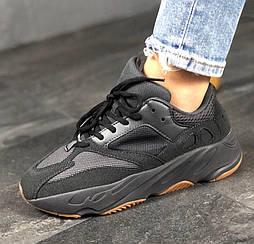 Мужские кроссовки Adidas Yeezy Boost 700 Utility Black. Живое фото (Реплика ААА+)