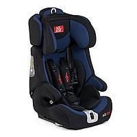 Автокресло детское универсальное 9-36 кг JOY цвет черный с синим система крепления Isofix