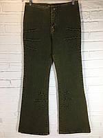 Джинсы женские 514-03 темно-зеленые 32