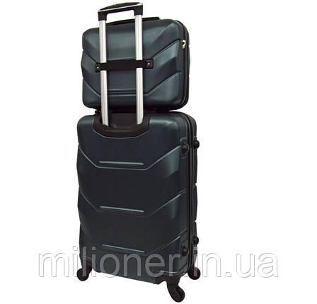 Комплект чемодан + кейс Bonro 2019 (большой) изумрудный, фото 2