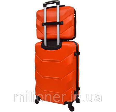 Комплект чемодан + кейс Bonro 2019 (большой) оранжевый, фото 2