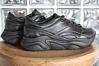 Кроссовки 508-29 черная кожа (21913 черная)