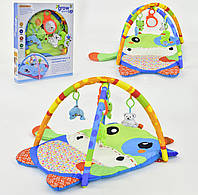 Коврик игровой в форме Коровки с подвесными игрушками светом и звуком