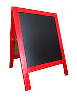 Рекламный штендер, мимоход, рекламный щит красный