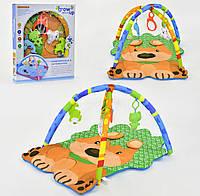 Коврик игровой в форме Собачки с подвесными игрушками светом и звуком