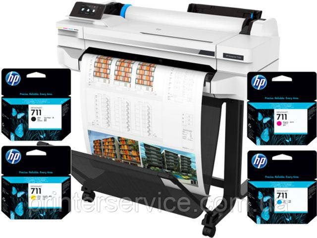 HP DesignJet Т530 с картриджами HP 711