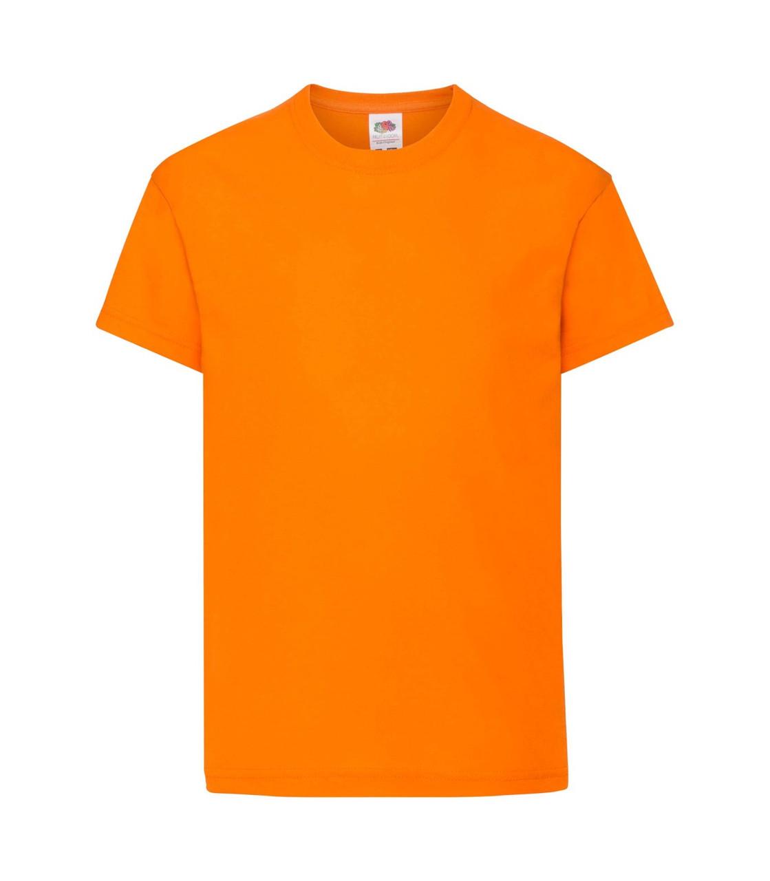Футболка для мальчиков хлопок оранжевая 019-44