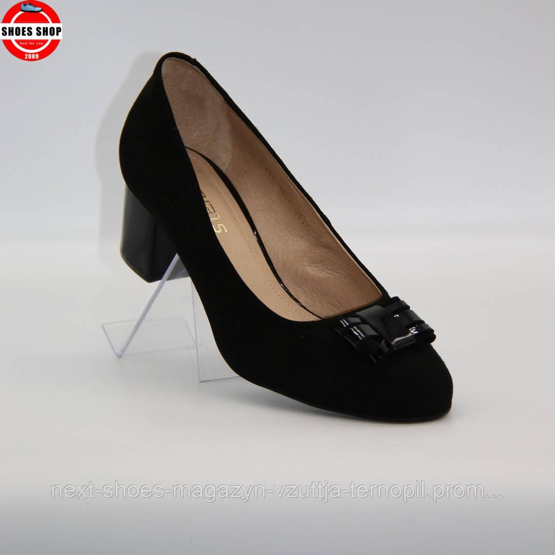 Жіночі туфлі Steizer (Польща) чорного кольору. Красиві та комфортні. Стиль: Stacy Martin