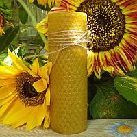 Циліндрична свічка D45-135мм з натуральної вощини (100% бджолиний віск)