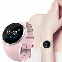 Фитнес браслет Q1, цветной дисплей, пульсомер и давление, розовый