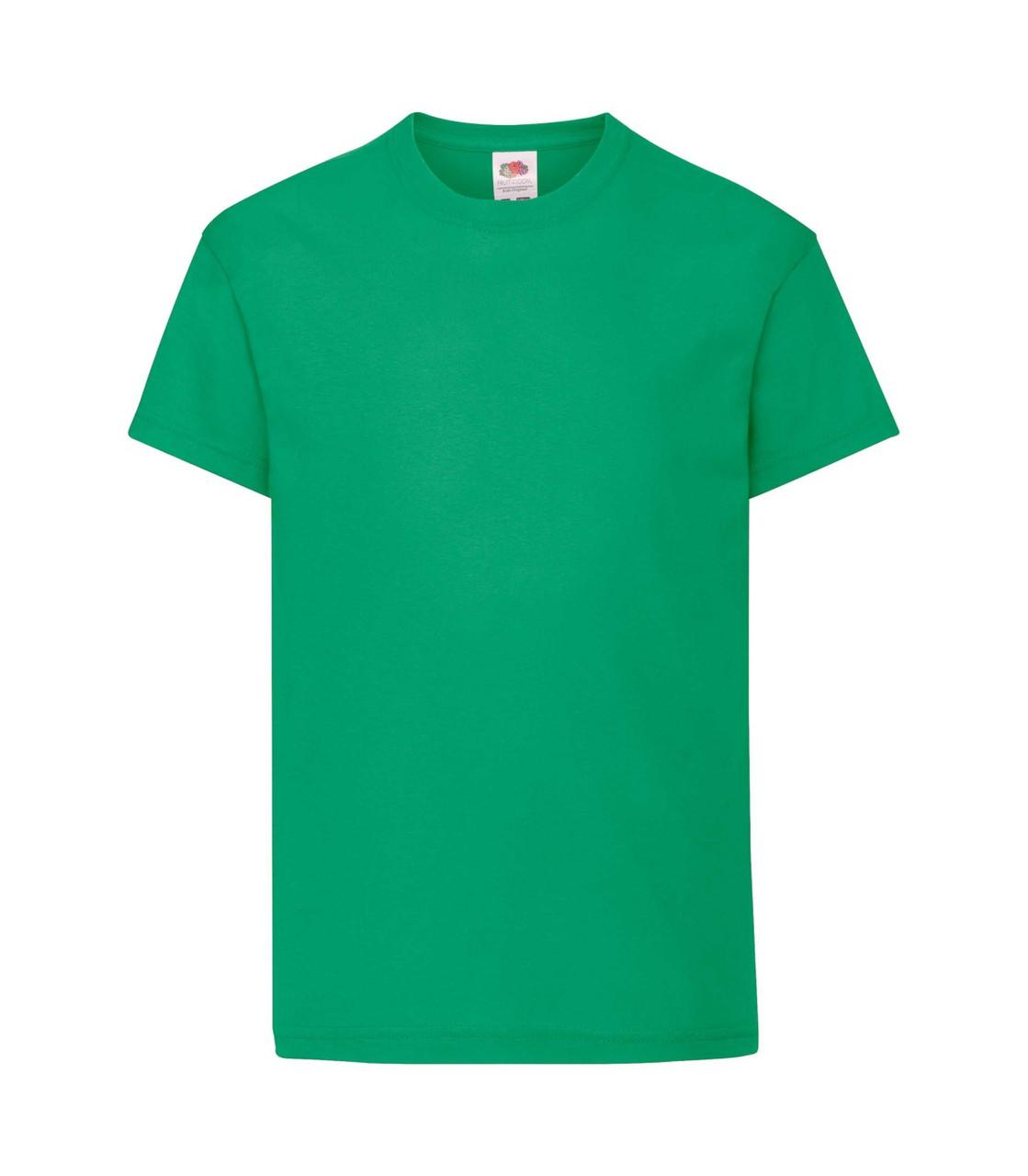 Футболка для мальчиков хлопок зеленая 019-47