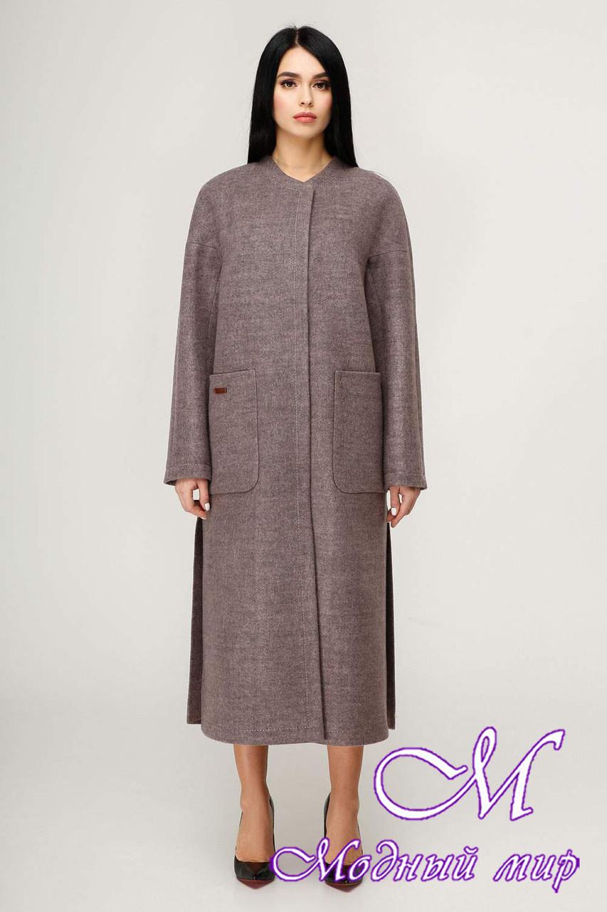 Женское демисезонное длинное пальто (р. 44-54) арт. 1192 Тон 3