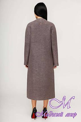 Женское демисезонное длинное пальто (р. 44-54) арт. 1192 Тон 3, фото 2