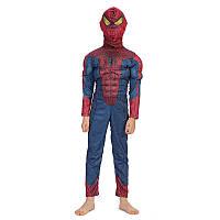 Костюм Человека паука, Спайдермена дутый, Комбинезон + маска,  разные размеры