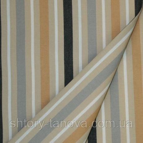 Специальная ткань для чехлов, наматрасников Дралон полоска серый/бежевый/черный тефлон,гамак-ткань