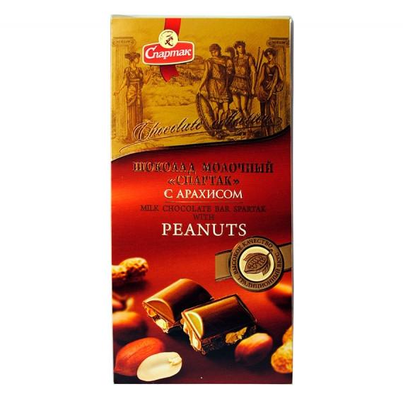 Молочный шоколад Спартак с арахисом 90 г